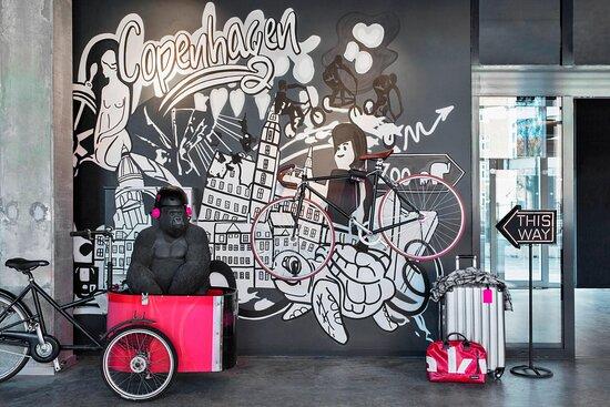 Wall Art at Moxy Copenhagen