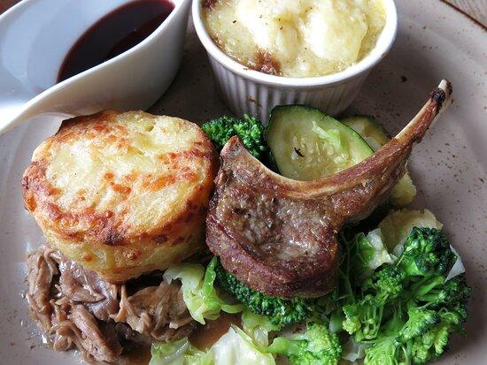 delicious lamb combination as main...