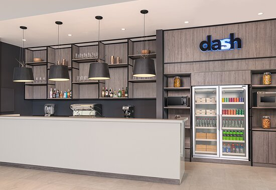Lobby Lounge and Dash are casual affairs that share the same dining space, where guests can order snacks or food to go. The bar at the Lobby Lounge specializes in coffee drinks, elixir juices and smoothies.