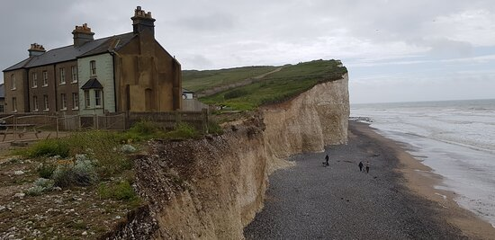 There used to be eight cottages here, due to erosion there are now only four ... but for how much longer ?