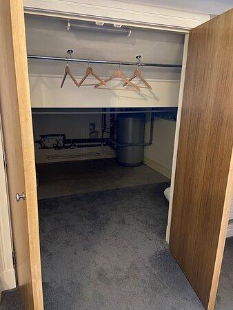 Boiler inside the wardrobe making room unbearably hot