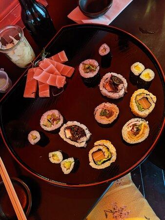 Vegan gluten free sushi
