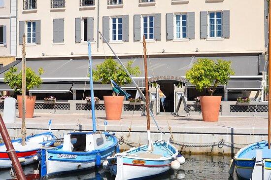 terrasse vue port