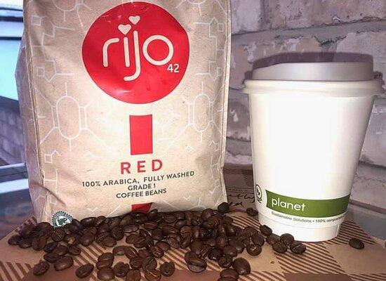 Freshly grounded coffee