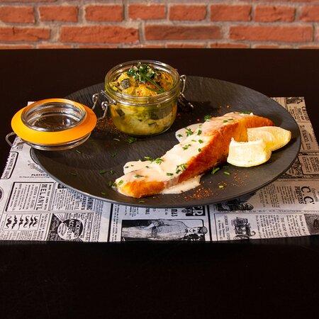Pôle Chez Canette /Pavé de saumon rôti