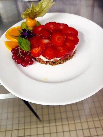 Tarte fraises maison