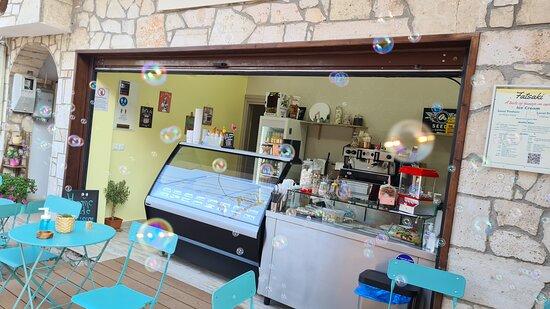 Fatsaki ice cream and waffle shop