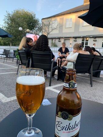 Finspång, Sverige: Joan's bar during Euro2020 game
