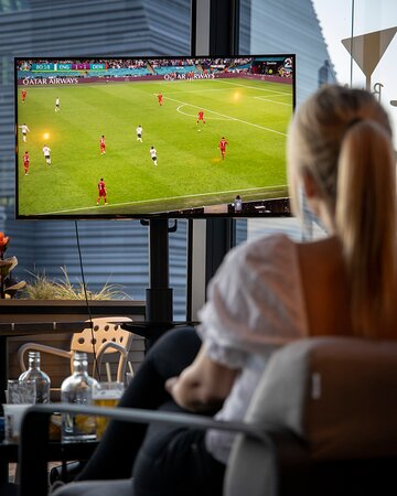 We show sports at our bar Marlin
