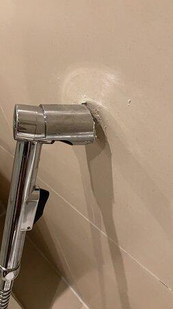 The broken health faucet holder