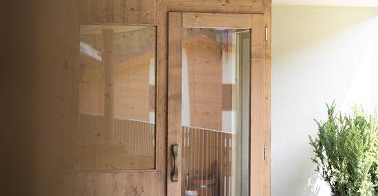 Private outdoor sauna