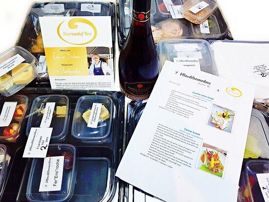 10-7-2021: Delicious 4-course Michelin homedinner  Restaurant  't Vlasbloemeken, Koewacht, Holland. 😋😋😋