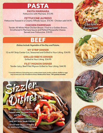 Enjoy our New Menu with something for everyone!