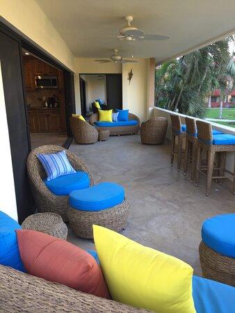 Luxury balcony with sofa seating