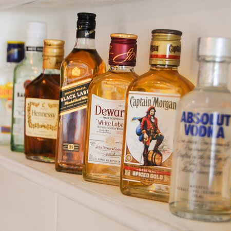 Different types of liquors available at BonWokkie