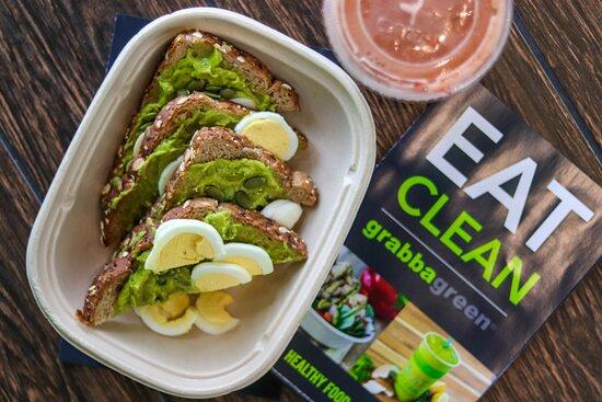 Royal Oak, MI: Protein Avocado Toast whole wheat toast | avocado | pepitas | hard-boiled egg | roasted garlic aioli