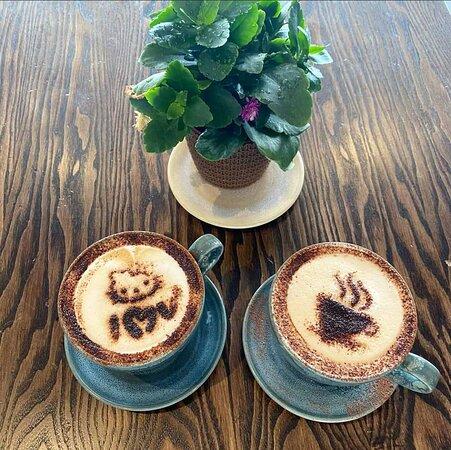 Cappuccino stencilling
