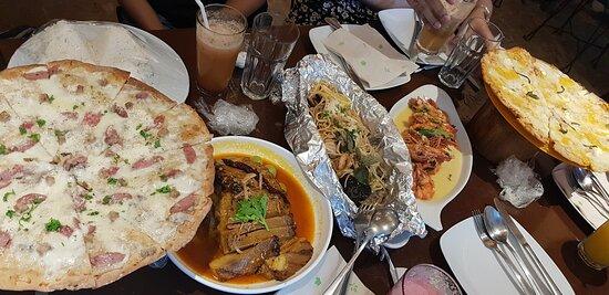 Food at Rizal Cafe