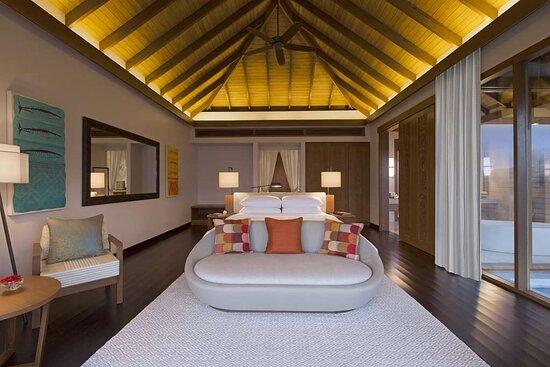 Interior view of bedroom in Ocean Pool Bungalow