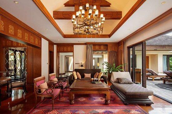 Living room of two bedrooms villa