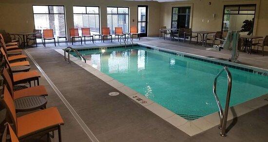 Indoor Heated Pool & Lounge Area