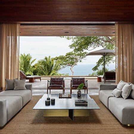 Villa One Living Room Ocean View