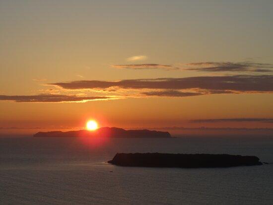 翌日 沈む夕日