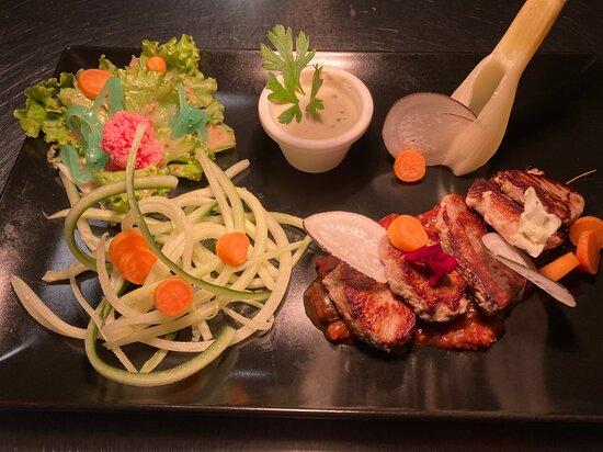 Filet mignon de Porc concassée de légumes