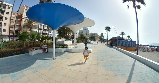 The newly renovated section of the Seafront Promenade