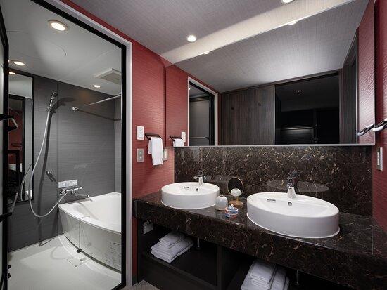 ▲プレミアム2ベッドルームアパートメントのお風呂