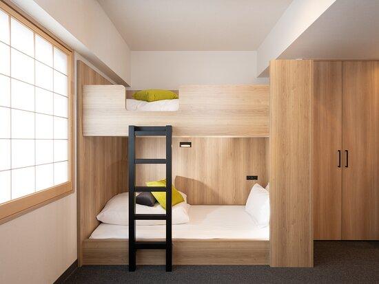 〇ファミリーアパートメントの二段ベッド