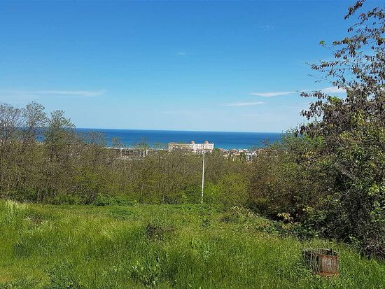 The small town of Obzor and the Black Sea as seen from some places of the eco-path