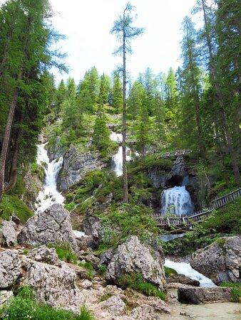 La cascata superiore
