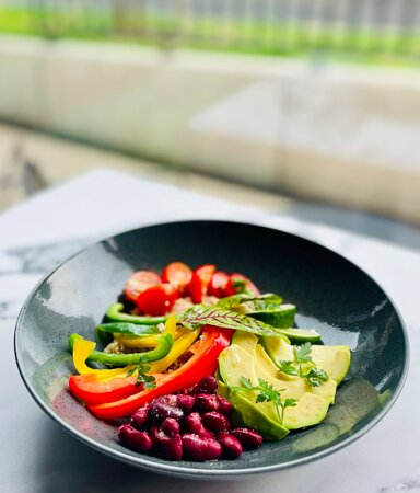 bowl with quinoa and seasonal vegetables