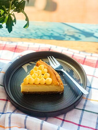 Локальный продукт. Чизкейк с облепиховым заварным кремом - новый, вкусный десерт.