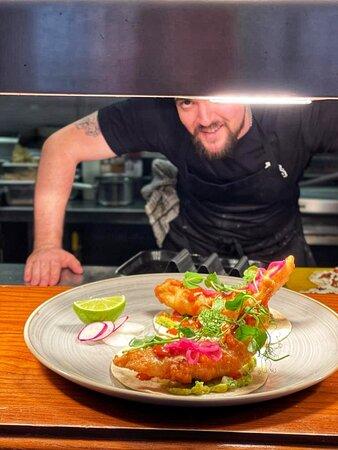 Banging Baja Fish Tacos💥  Oh, and Chef Nicholas March