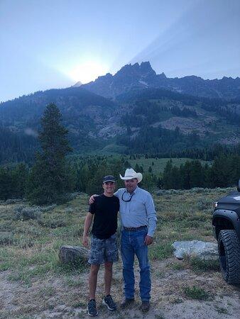 Half Day Grand Teton Wildlife Safari Tour: Me and my son at Lupine Meadows Turnout.