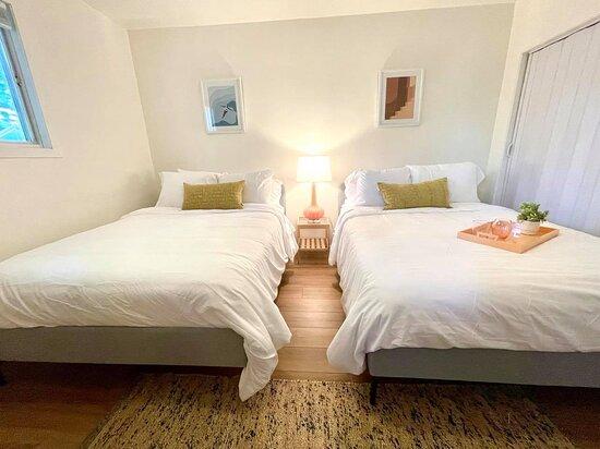 Memory foam mattresses on all beds