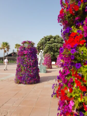 Flower towers on the prom