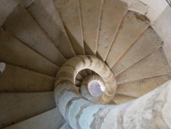 l'escalier à hélice sans colonne centrale