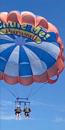 First time parasailing!