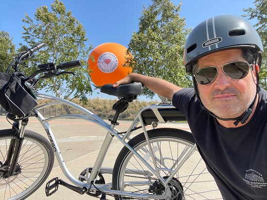 Irvine, CA: Ride to the GreatPark.  Getting in that baloon next time