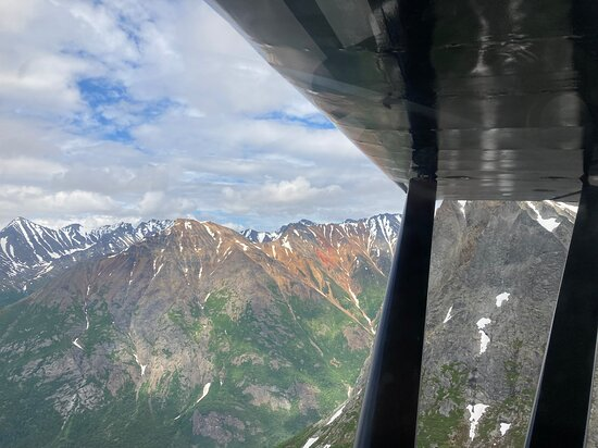 View from fightseeing plane en route to Cook Inlet