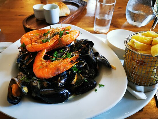 Mussels and Prawns, lovely