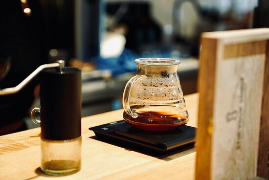 90 Cup score Geisha grinded with Comandante grinder and brewed in V60.