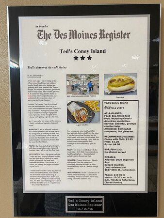 News article mounted on the wall