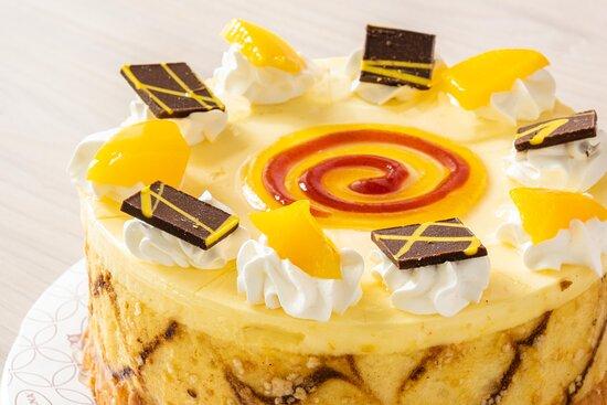 Torta fría de durazno maracuyá