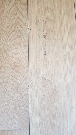 Scratches and burn marks on the floor