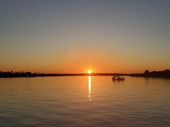 Sunset on the Zambezi River (Zambia)