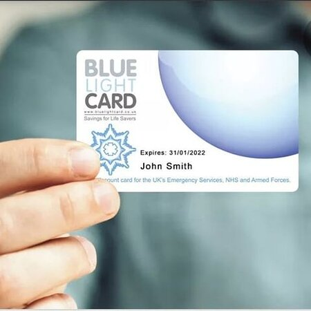 Offering A 10% discount to all Blue Light Card Holders